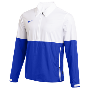 Nike Team Authentic Lightweight Coaches Jacket - Men's - White/Game Royal