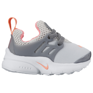 Nike Presto - Girls' Toddler - Nike - Casual - Pure Platinum/Lava Glow/Cool  Grey/White