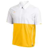 Nike Team Authentic Coaches S/S Jacket - Men's - White / Yellow