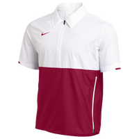 Nike Team Authentic Coaches S/S Jacket - Men's - White / Maroon