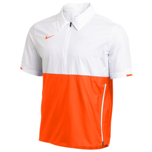 Nike Team Authentic Coaches S/S Jacket - Men's - White/Team Orange