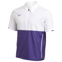 Nike Team Authentic Coaches S/S Jacket - Men's - White / Purple