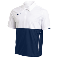 Nike Team Authentic Coaches S/S Jacket - Men's - White / Navy