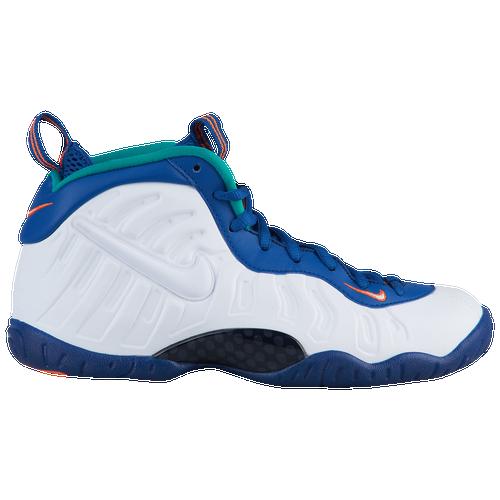 3d91f91c359 Nike Little Posite Pro - Boys  Grade School - Basketball - Shoes - Gym  Blue White Cone Neptune Green