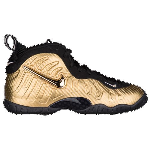 cf5c95e7850 ... toddler basketball shoes metallic gold 16298 33510  hot nike little  posite pro boys grade school casual basketball metallic gold c0525 f9c02