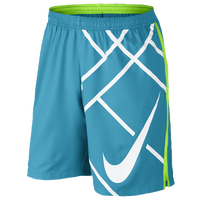 "Nike Court 9"" Tennis Shorts - Men's - Light Blue / Light Green"