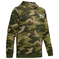 Under Armour Rival Printed Hoodie - Boys' Grade School - Olive Green