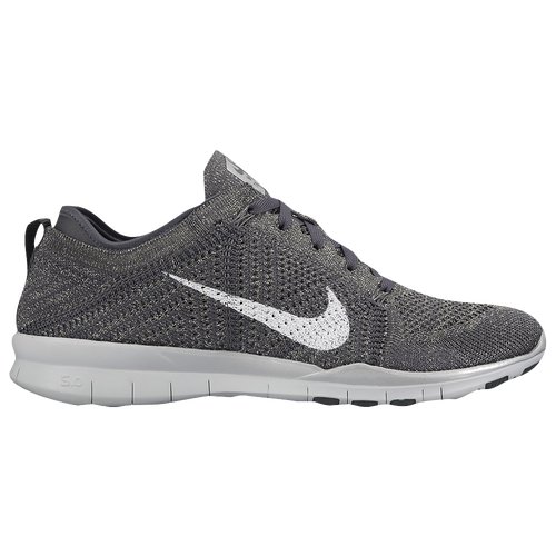 huge discount 636cf ee90b Nike Free TR 5 Flyknit - Women s - Training - Shoes - Dark Grey Pure  Platinum Metallic Silver