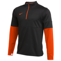 Nike Team Authentic Therma 1/2 Zip Top - Men's - Black / Orange