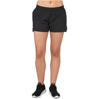 "ASICS® 3.5"" Woven Shorts - Women's - All Black / Black"