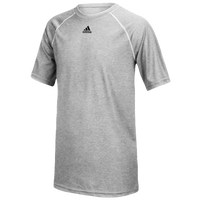 adidas Team Climalite S/S T-Shirt - Boys' Grade School - Grey / Grey