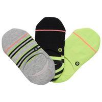 Stance 3 Pack Super Invisible 2.0 Socks - Women's - Light Green / Black