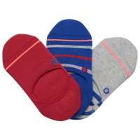 Stance 3 Pack Super Invisible 2.0 Socks - Women's - Red / Blue