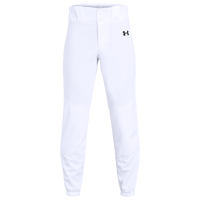 Under Armour Utility Closed Bottom Pants - Boys' Grade School - White