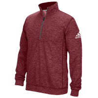 adidas Team Issue 1/4 Zip - Men's - Maroon / Grey