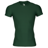 Badger Sportswear Pro-Compression S/S Crew - Men's - Dark Green / Dark Green
