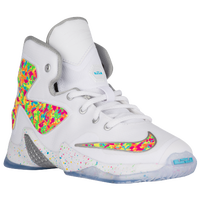 Nike LeBron XIII - Boys' Preschool - Basketball - Shoes - James, LeBron -  White/Action Green/Pink Foil/Gamma Blue