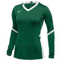 Nike Team Hyperace Long Sleeve Game Jersey - Women's - Dark Green / White