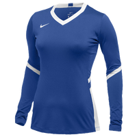 Nike Team Hyperace Long Sleeve Game Jersey - Women's - Blue / White