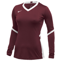 Nike Team Hyperace Long Sleeve Game Jersey - Women's - Cardinal / White