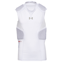 Under Armour Gameday Armour 5-Pad Top - Boys' Grade School - White