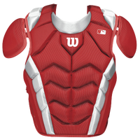 Wilson Pro Stock Chest Protector - Adult - Red / White