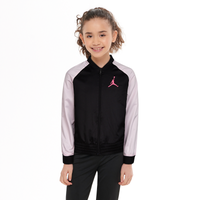 Jordan Open Lane Shine Bomber Jacket - Girls' Grade School - Black