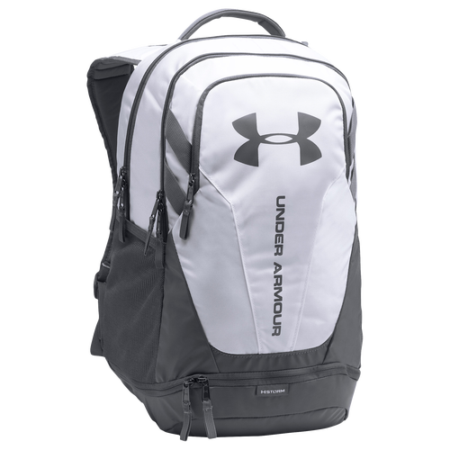 Under Armour Hustle Backpack 3.0   Casual   Accessories    White/Graphite/Graphite