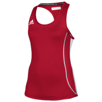 adidas Team Utilty Compression Tank - Women's - Red / White