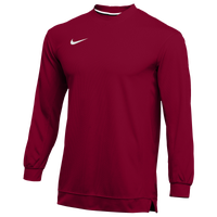 Nike Team Dry Classic Mesh L/S Top - Men's - Cardinal