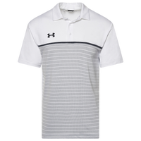 Under Armour Team Team Stripe Mix-Up Polo - Men's - White