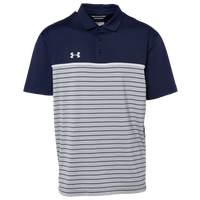 Under Armour Team Team Stripe Mix-Up Polo - Men's - Navy / White