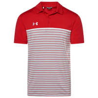 Under Armour Team Team Stripe Mix-Up Polo - Men's - Red
