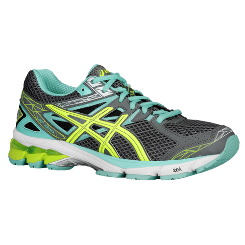 ASICS® GT-1000 3 - Women's - Running - Shoes - Charcoal/Flash Yellow/Mint