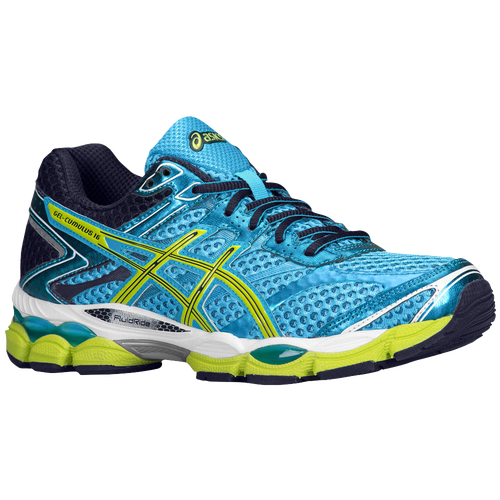 ASICS® GEL-Cumulus 16 - Women's - Running - Shoes - Turquoise/Sharp  Green/Navy