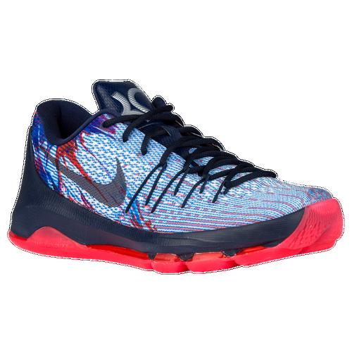 Nike KD VIII - Men\u0027s - Basketball - Shoes - Durant, Kevin - Solar/Midnight  Navy/Bright Crimson/White