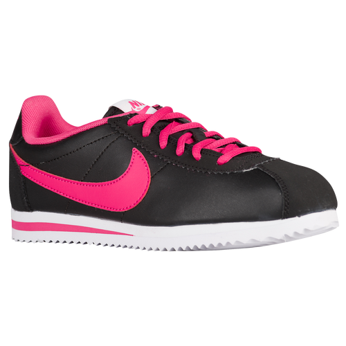 nike cortez black with pink