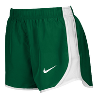 Nike Team Dry Tempo Shorts - Women's - Dark Green / White