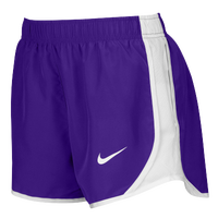 Nike Team Dry Tempo Shorts - Women's - Purple / White