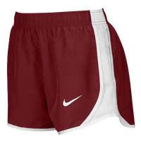 Nike Team Dry Tempo Shorts - Women's - Cardinal / White