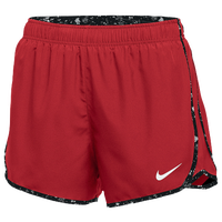Nike Team Dry Tempo Shorts - Women's - Red / Black