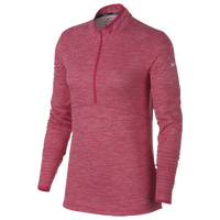 Nike Dri-Fit 1/2 Zip Golf Cover Up - Women's - Pink / Silver
