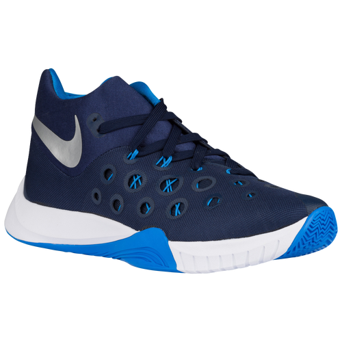 Nike Zoom Hyperquickness 2015 - Men's - Basketball - Shoes - Midnight Navy/Photo  Blue/Metallic Silver