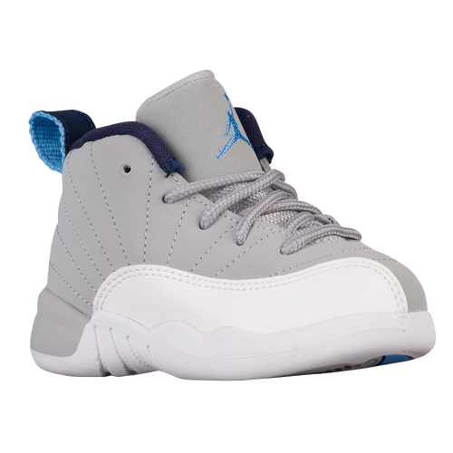 Jordan Retro 12 - Boys' Toddler - Basketball - Shoes - Wolf Grey/University  Blue/White/Midnight Navy