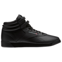 Reebok Freestyle Hi - Girls' Grade School - Black / Black