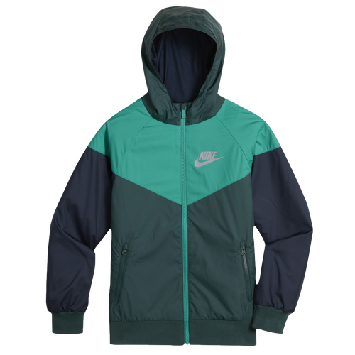 ea0491a0dc Nike Windrunner Jacket - Boys  Grade School - Casual - Clothing - Dark  Atomic Teal Neptune Green Obsidian