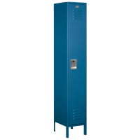 Salsbury Assembled Single Tier Extra Wide Locker - Blue / Blue
