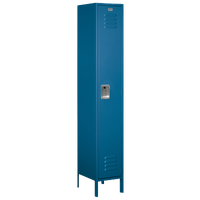 Salsbury Unassembled Single Tier Wide Locker - Blue / Blue