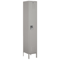 Salsbury Unassembled Single Tier Wide Locker - Grey / Grey