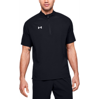 Under Armour Team Motivate Woven S/S 1/4 Zip - Men's - Black